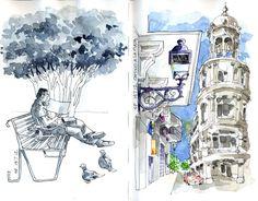 Este es el 1º Sketchbook que inicie en Santo Domingo, ademas de 3 o 4 dibujos no terminados que dibuje en el lugar y espero colorear aqui....