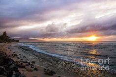 Laniakea Beach Sunset by Daryl L Hunter Hawaii Landscape, Kauai, Spirit, Sunset, Beach, Water, Outdoor, Gripe Water, Outdoors