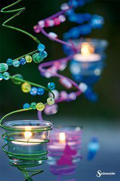 Für den #Garten oder dem #Balkon. Die Anleitung für diese funkelnden #Kerzenhalter findet Ihr hier: http://www.sachenmacher.com/bastelideen/weihnachtsbasteln/funkelnde-kerzenhalter.html