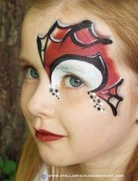 Simple face painting designs are not hard. Many people think that in order to have a great face painting creation, they have to use complex designs, rather then Superhero Face Painting, Face Painting For Boys, Face Painting Designs, Paint Designs, Body Painting, Spider Man Face Paint, Spiderman Face, Spiderman Makeup, Costume Makeup