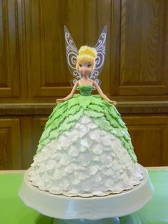 Tinkerbell Doll Cake - love it, but the top green leaves are too thick