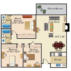 Solana Highlands is a beautiful apartment community located in Solana Beach, California. Dream House Plans, House Floor Plans, My Dream Home, Dream Homes, Small Floor Plans, Small House Plans, Granny Pod, Granny Flat, Dream House Interior