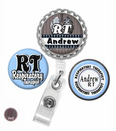 Personalized Respiratory Therapist Set 4 by VintageWillowDesigns