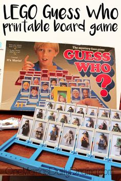 LEGO Guess Who printable board game | Update an old family favorite game with these new cards featuring LEGO minifigures from all your favorite sets.
