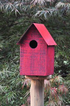 Red Birdhouse