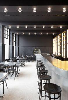 interior design, bedroom interior, design interiors, de meuron, lighting ideas, bar, restaurants, volkshaus basel, stools