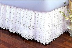 Crochet Dust Ruffle – Crochet — Learn How to Crochet Vintage Crochet Patterns, Dust Ruffle, Ruffle Bedding, Asian Decor, Curtain Designs, Antique Quilts, Bed Skirts, Shabby Chic Style, Learn To Crochet