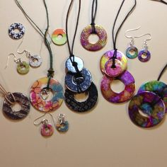 Washer creations - more jewelry ideas for the g-daughter!
