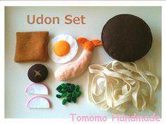 Feltfood  Udon Noodle set by TomomoHandmade on Etsy, $23.50