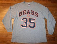 Anthony Thomas #35 Chicago BEARS Football long-sleeve T-Shirt Tee-Mens Large-NFL