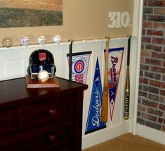 use baseball bat display cases from hobby stores to ...