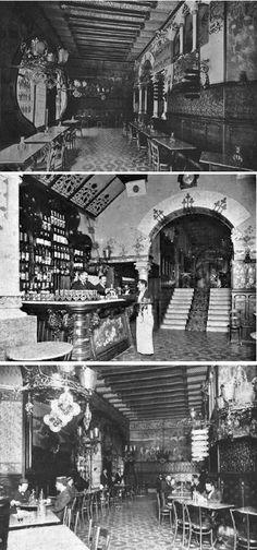 Torino, el palacio del vermut, situado en el número 18 del Passeig de Gràcia, en la privilegiada esquina con la Gran Vía. Era una verdadera obra maestra del modernismo que, como otras, no tuvo una larga vida. Se inauguró el 20 de setiembre de 1902 y cerró sus puertas en 1911.