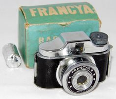 https://flic.kr/p/r2sLsk | Vintage Francya Baby Miniature Film Camera With Box And Roll Of Film, Made In Japan