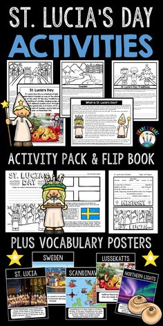 This special day is in honor of St. Lucia, the patron saint of Sweden, and is held every year on December 13th.  Your students will love learning about this special holiday!