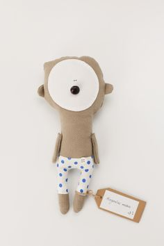 Sleeping teddy bear made for Sapnu Namai. Find more accesories and baby bedding www.littledreamsbutique.com