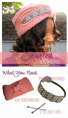 How to make a Jeweled Knit Headwarmer @SavingOurStrand