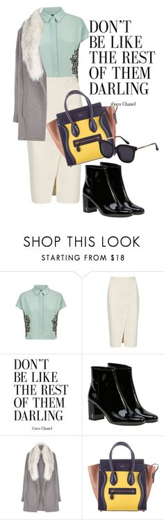 """""""love what u do"""" by omahtawon ❤ liked on Polyvore featuring Jaeger, Acne Studios, Yves Saint Laurent, River Island and CÉLINE"""