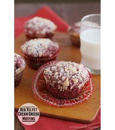 Red Velvet Cream Cheese Muffins | www.tasteandtellblog.com #recipe #redvelvet #breakfast