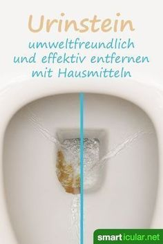 Urinstein effektiv entfernen mit Hausmitteln – so bleibt das WC sauber Have you failed with all previous measures to remove urine stone? These home remedies help effectively and are also inexpensive and environmentally friendly. Household Cleaning Tips, Cleaning Day, Toilet Cleaning, Green Cleaning, House Cleaning Tips, Spring Cleaning, Cleaning Hacks, Diy Hacks, Limpieza Natural