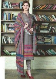 Gray Casual Wear Fancy Salwar Suits