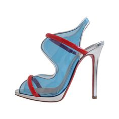 Christian Louboutin Translucent Blue Heels | From a collection of rare vintage shoes at https://www.1stdibs.com/fashion/accessories/shoes/