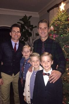 Matt Bomer.  Stars get in the holiday spirit