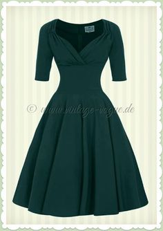 Collectif 40er Jahre Pin-Up Retro Swing Kleid - Trixie Doll - Petrol Grün                                                                                                                                                                                 Mehr