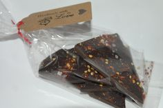 Dark chocolate Chilli Bark 100gram - Wedding Favour by SweetieLoveUK on Etsy