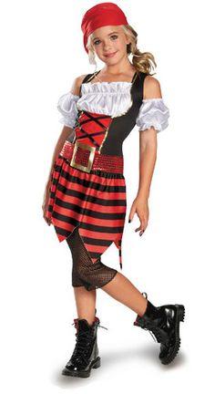Pirate · Pirate Costume For GirlsHalloween ...  sc 1 st  Pinterest & Girlu0027s DELUXE PIRATE Costume Girls size 12/14/16 | Pinterest | Girl ...
