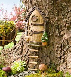 Lighted Fairy Door Garden Accent