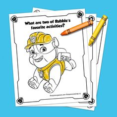 Free Printable PAW Patrol Coloring Pages are fun for kids of all ages! You'll go crazy for these printable PAW Patrol coloring sheets! Paw Patrol Pups, Paw Patrol Party, Paw Patrol Birthday, Preschool Learning Activities, Preschool Printables, Preschool Alphabet, Colouring Pages, Coloring Pages For Kids, Coloring Sheets