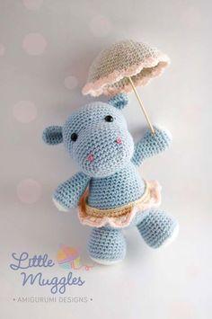 Mesmerizing Crochet an Amigurumi Rabbit Ideas. Lovely Crochet an Amigurumi Rabbit Ideas. Crochet Hippo, Crochet Amigurumi, Love Crochet, Amigurumi Patterns, Amigurumi Doll, Crochet Animals, Crochet Dolls, Easy Crochet, Crochet Patterns