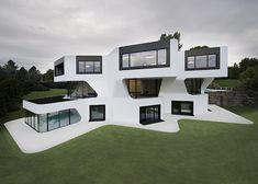 Casa com arquitetura futurista já é realidade na Alemanha
