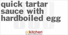 Quick Tartar Sauce With Hardboiled Egg   CDKitchen.com