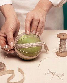 How to make fabric balls.