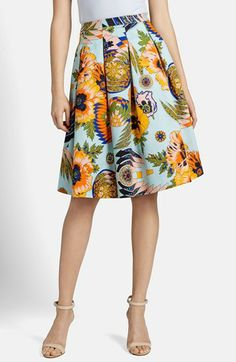Gorgeous skirt!  MSGM Print Pleated Skirt available at #Nordstrom
