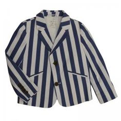 Blue/White Stripe Blazer, Mon Petit