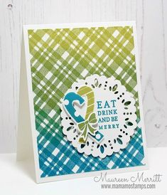 The perfect Plaid background cling stamp blends bold solid and striped lines effortlessly together for beautiful rich colorful designs! Winter Cards, Holiday Cards, Christmas Cards, Solid And Striped, Craft Club, Masculine Cards, Stamping Up, Hand Lettering, Card Stock