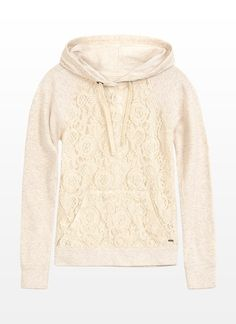 Lace and a hoodie