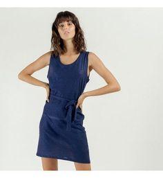 Artlove Robe casual nouée à la taille VIOLA Short En Jean, Galeries Lafayette, Bleu Marine, Casual, Safari, Dresses, Products, Fashion, Dress Blues