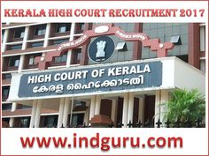 Kerala High Court Recruitment 2017
