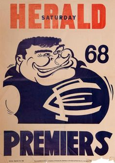 Fair condition (peripheral… - Sporting - AFL/VFL - Memorabilia - Carter's Price Guide to Antiques and Collectables Carlton Football Club, Kelly's Heroes, Australian Football, Go Blue, Football Players, Blues, Goals, The Originals, Sports