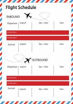 [Full Page Planner] Par Avion: Free Printable Flight Schedule {Updated Link} Travel Album, Travel Planner, Vacation Planner, Free Travel, Travel Tips, Travel Organization, Travel Scrapbook, Smash Book, Travel With Kids