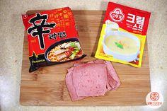 라면 요리의 신세계 '라르보나라' 만들기 Snack Recipes, Cooking Recipes, Snacks, Food N, Food And Drink, Corn Soup, Korean Food, Creative Food, Food Items