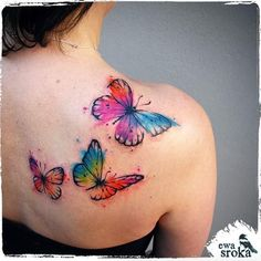 Watercolor Butterfly Tattoo by Ewa Sroka