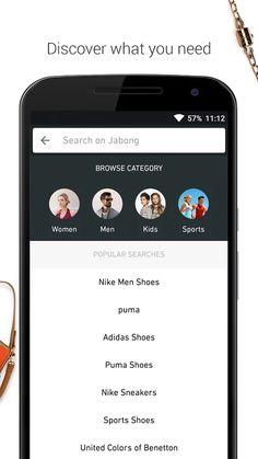 Jabong-Online Fashion Shopping- screenshot Pumas Shoes, Adidas Shoes, Sneakers Nike, Jabong Online Shopping, Ecommerce App, Kids Sports, Sports Shoes, Nike Men, Fashion