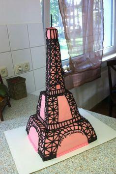 Paris Cake Eiffel Tower Paris Themed Cakes, Paris Cakes, Beautiful Cakes, Amazing Cakes, Parisian Cake, Eiffel Tower Cake, Paris Birthday, Different Cakes, Just Cakes