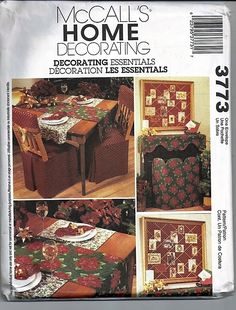 Decorating Essentials / Original McCall's Home Decorating Uncut Pattern 3773 by…