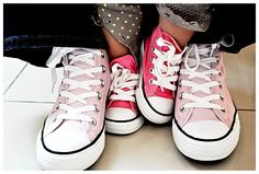 Mommy and baby Converse