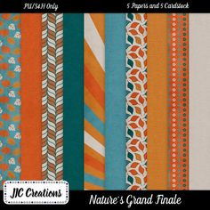 FREE Nature's Grand Finale Papers by JIC Creations